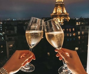 paris, champagne, and night image