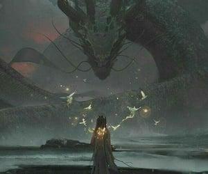 digital, dragon, and grey image
