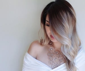 fashion, ombre hair, and blonde ombre image