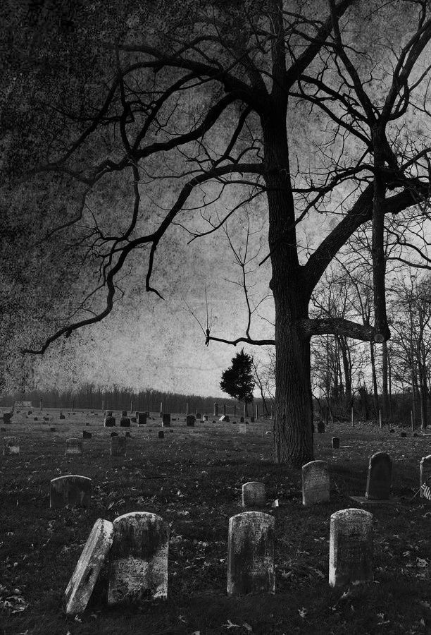 cemetery, death, and black and white image