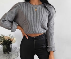 sweater, fall, and winter image