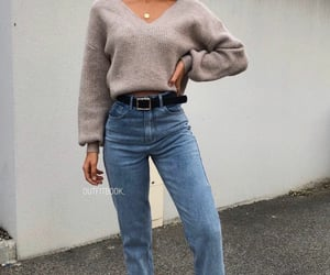 sneakers, street style, and sweater image