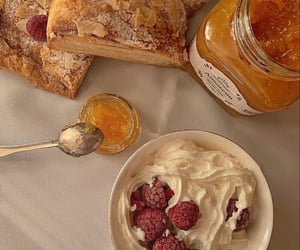 bread, breakfast, and cream image