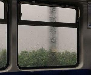 rain, train, and aesthetic image