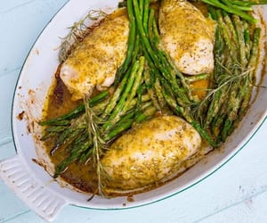 asparagus, Chicken, and lemon image