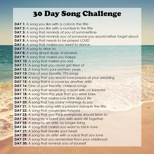article, self isolation, and 30 day song challenge image
