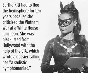 eartha kitt, capricorn sun, and she spoke her conscience image
