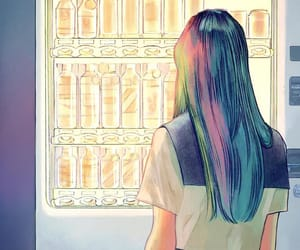 color, illustration, and school girl image