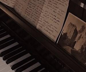 piano, dark academia, and aesthetic image