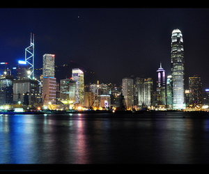 city, harbor, and hong kong image