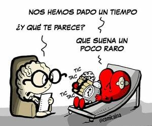 cartoon, tiempo, and frases español image
