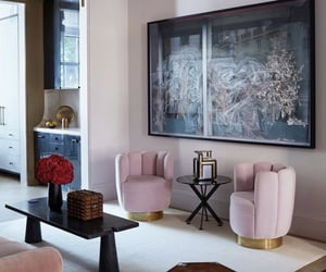 art, calm, and coffee table image