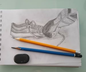 aesthetic, sketch, and sneakers image