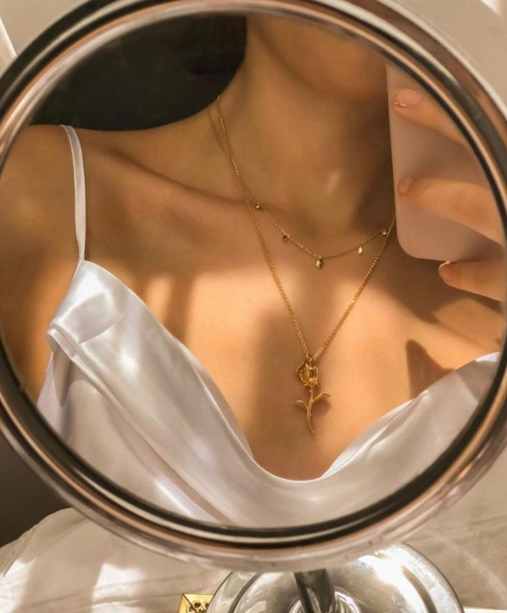 aesthetic, mirror, and jewelry image