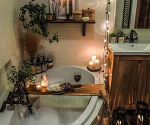 aesthetic, bath, and bath room image