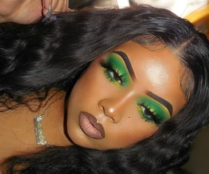 green, looks, and makeup image