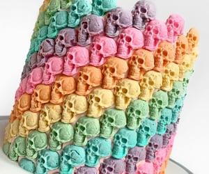 cake, skull, and sugar image