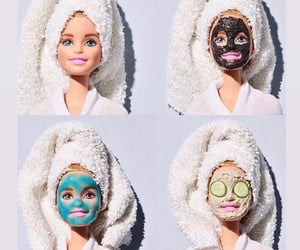 beauty, mask, and barbie image