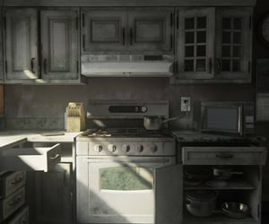 abandoned, apartment, and kitchen image