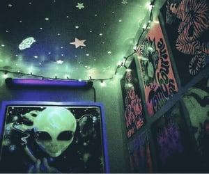 aesthetic, alien, and neon image