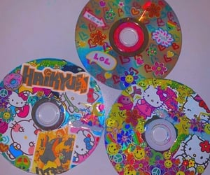 hello kitty, cd, and indie image