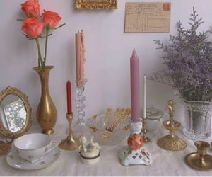 bowls, candles, and glass image