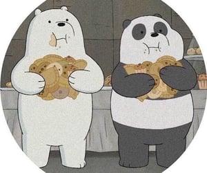 cartoon, ice bear, and panda image