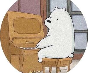 bear, ice bear, and cartoon image