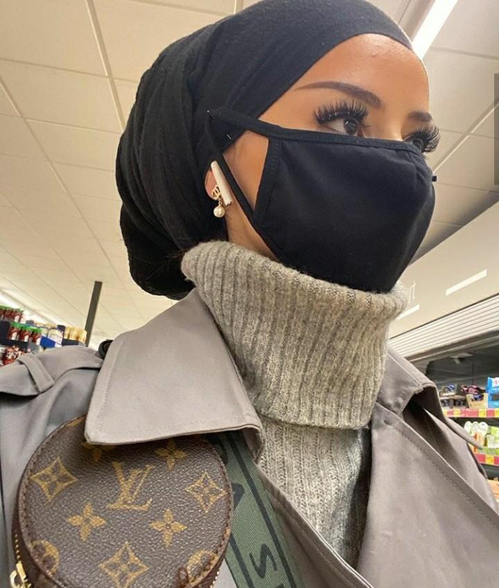 eyes, hijab, and mask image