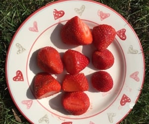 strawberry, red, and FRUiTS image