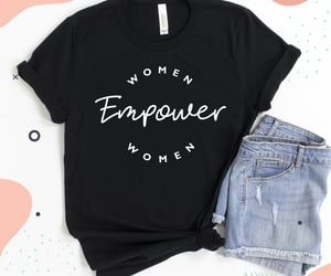 casual fashion, feminist, and girl power image