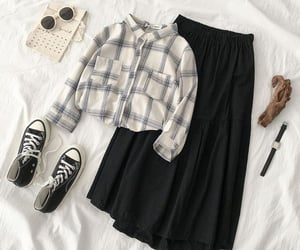 clothes, school supplies, and fashion image