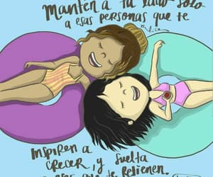 amigas, quotes, and spanish image