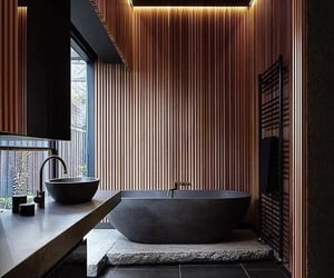 bath, black, and home image