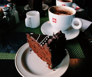 coffee, cake, and vintage image