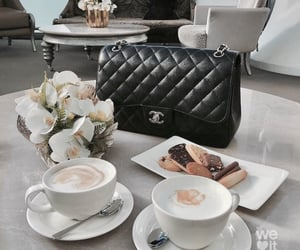 coffee, chanel, and drink image