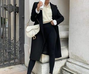 black coat, blogger, and dior image