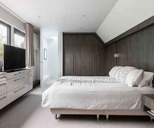 bedroom, natural light, and room design image