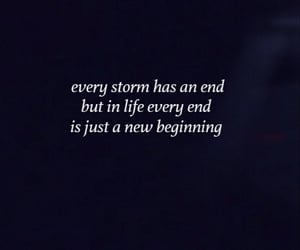 end, life, and storm image