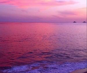 pink, wallpaper, and sea image