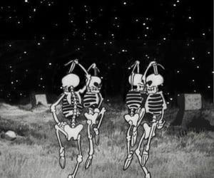 skeleton, wallpaper, and Halloween image