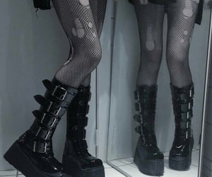 goth, black, and alternative image