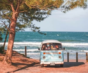 adventure, beach, and kombi image