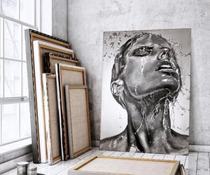 art, modern, and black and white image