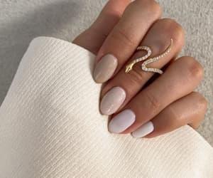 makeup, nails, and snake ring image