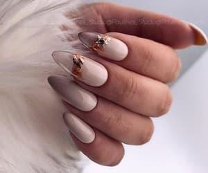 gold, makeup, and nails image