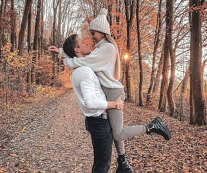 couple, autumn, and love image