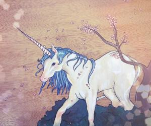 draw, illustration, and unicorn image