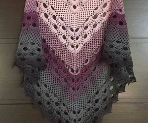 crochet, crocheted, and shawls image