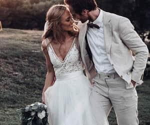 wedding dress, weddings, and beach wedding image